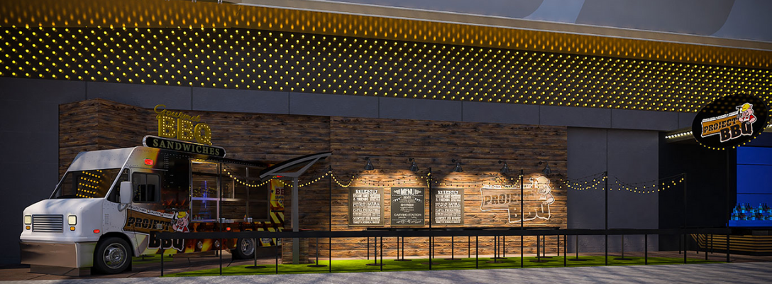 Exterior Rendering of Project BBQ in Downtown Las Vegas